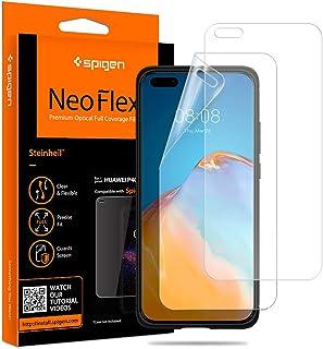 Spigen, 2-pack, skärmskydd för Huawei P40 Pro/Huawei P40 Pro Plus, NeoFlex, heltäckande, fodralvänlig, våt applikation, sk...