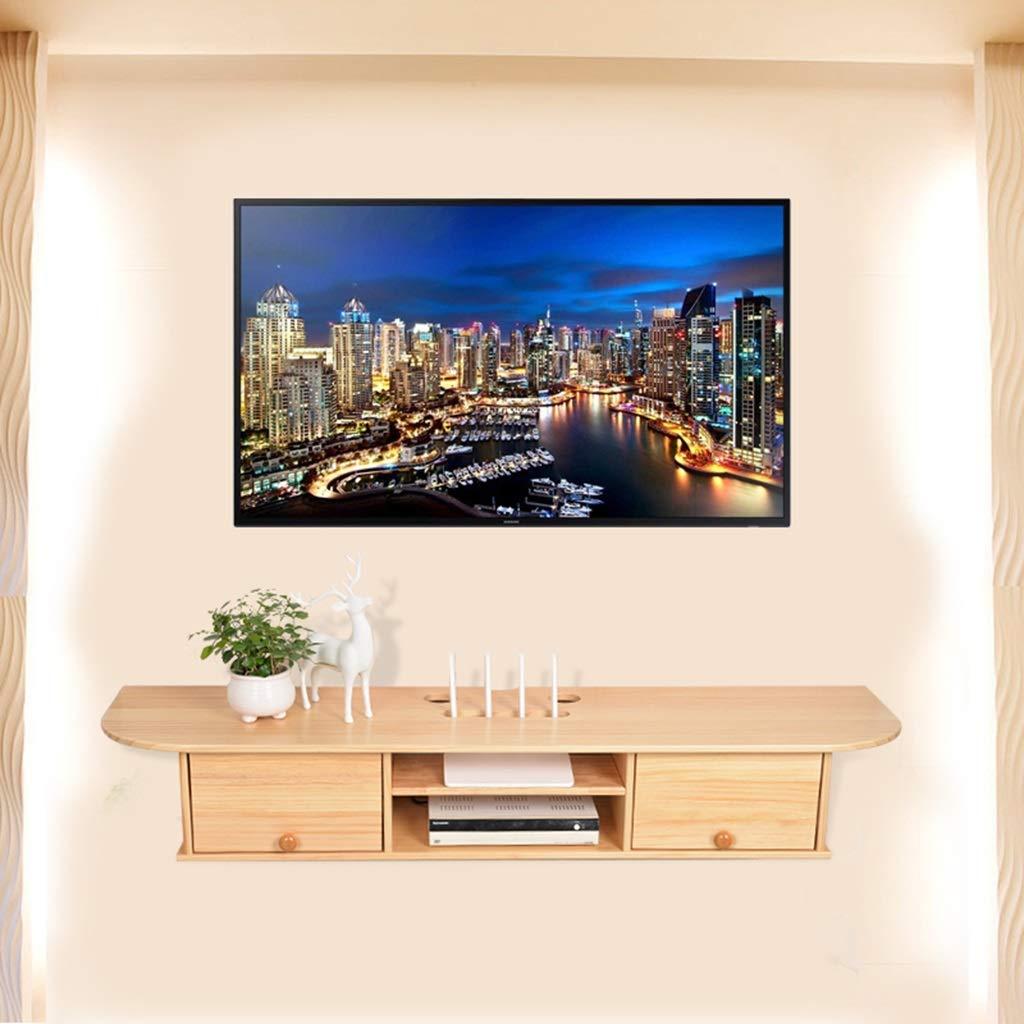 XINGPING-Shelf Estante para televisor de Madera Maciza Estante para Colgar en la Pared Decoración de la Sala Enrutador Caja de Almacenamiento Muro para TV (Color : Pine): Amazon.es: Hogar