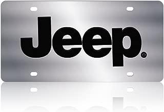 Eurosport Daytona 1418-1 Stainless Steel Jeep Logo License Plate