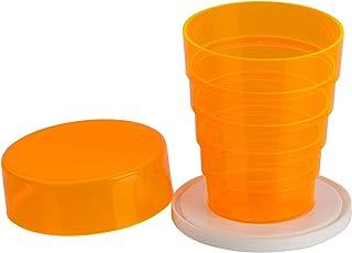 Kimmel - Vaso plegable, tamaño único, color naranja transparente