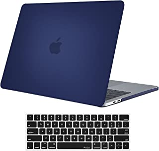 ProCase MacBook Pro 13 Case 2019 2018 2017 2016 Release A2159 A1989 A1706 A1708, Hard Case Shell Cover and Keyboard Skin Cover for Apple MacBook Pro 13 Inch with/Without Touch Bar & Touch ID -Darkblue