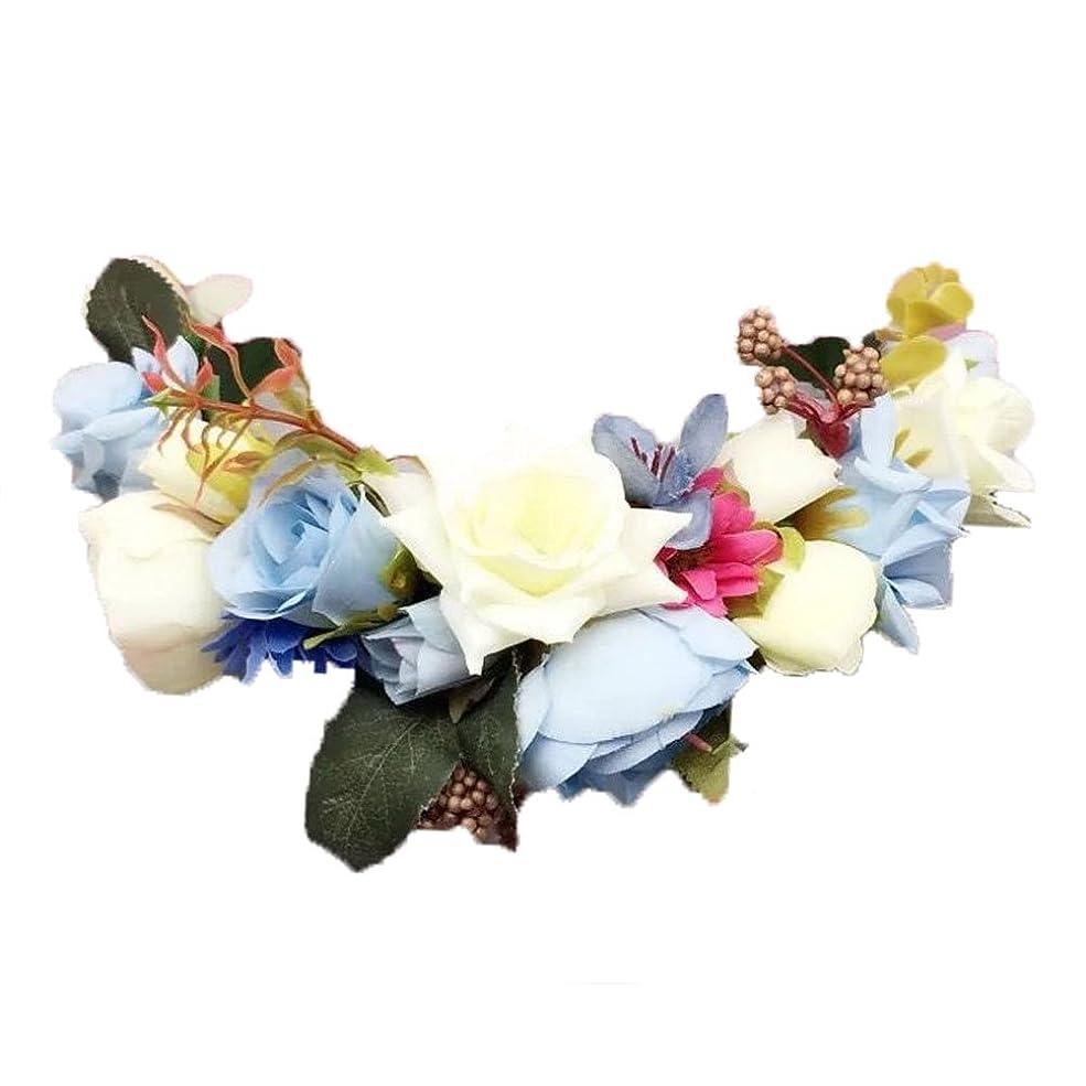 赤面蜜フリル女性の女の子の頭髪のビーチのギフト手作りの花のヘアバンド