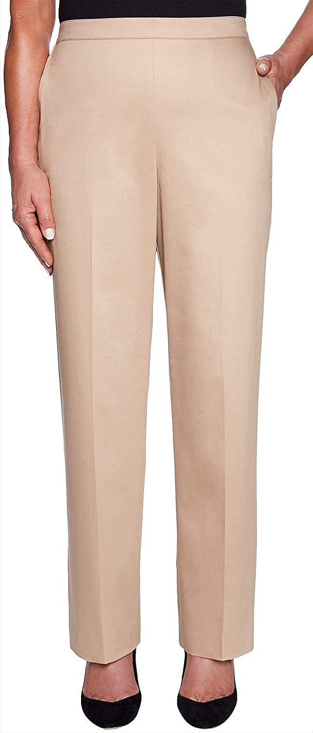 Alfred Dunner Women's Good to Go Santeen Proportioned Medium Pant