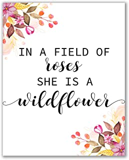 In a Field of Rose, She Is a Wildflower Print - 8