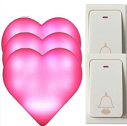 WYMLKUD ワイヤレス?ドアベル、 自己発電した電気 世帯 LEDフラッシュ、 防水、 赤、 5のスタイル (色 : Red, サイズ さいず : C)