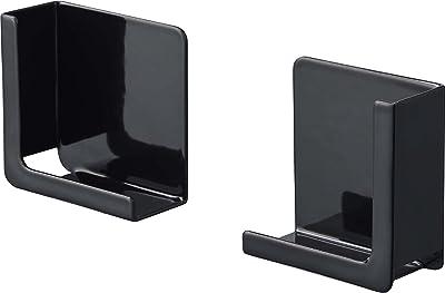 山崎実業(Yamazaki) マグネットタブレットホルダー タワー ブラック 約W5XD2.5XH5cm タワー 挟んで固定 様々なサイズに対応可 4985