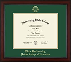 Ohio University Patton College of Education - Officially Licensed - Gold Embossed Diploma Frame - Diploma Size 14