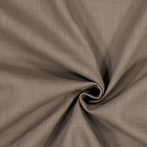 Fabulous Fabrics Leinenstoff mittelschwer, Mocca – Leinenstoffe zum Nähen von Leinenhosen, Freizeithemden, Leinenkleider und natürliche Dekoration - Meterware ab 0,5m