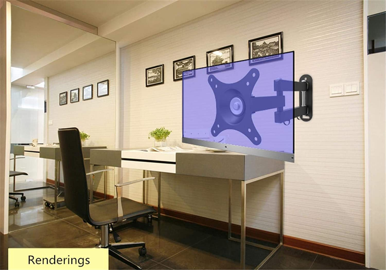 Firm Wall Stand,Household Wall Bracket,Computer Monitor Stand Telescopic redating Wall Hanging Universal Tv Rack 24Firm Wall Stand, 27 32 Inch,Wall Hanging Bracket