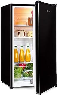 Klarstein Hudson Nevera - 88 litros, eficiencia energética A++, 3 estantes de cristal, 2 compartimentos para verduras, luz interior LED, 3 compartimentos para botellas de hasta 2 litros, Negro