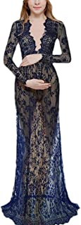 MogogoWomen Oversized Bodycon V-Neck Long Sleeve Skinny Maxi Long Dress