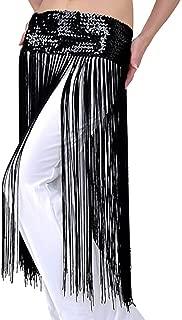 Pilot-trade Lady's Belly oriental Dance Fringe Tassel Brilliant Hip Scarf Belt Skirt