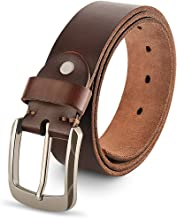 Genuine Leather Belts For Men, 100% Full Grain Fashion Mens Belt For Casual Wear, With Antique Alloy Buckle.