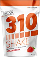 Strawberry Meal Replacement | 310 Shake Protein Powder is Gluten and Dairy Free, Soy Protein and Sugar Free | Includes Free Recipe eBook | 28 Servings