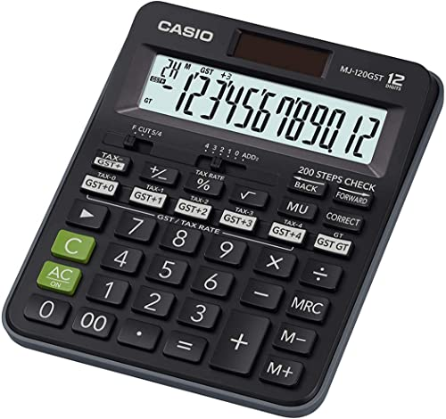 Casio MJ-120GST GST Calculator (Black) product image