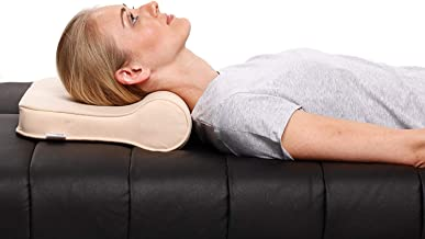 Physiqo Cervical Pillow Neck Support (Free Size, Brown)