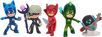 Simba 109402364 PJ Masks - Juego de Figuras de PJ Masks, héroes en Pijama y Villanos, 5 Figuras de acción de 8 cm para niños a Partir de 3 años