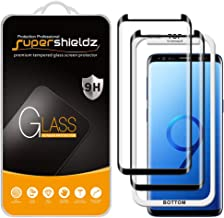 (2 Pack) Supershieldz for Samsung Galaxy S9 Tempered Glass Screen Protector with (Easy Installation Tray) Anti Scratch, Bubble Free (Black)