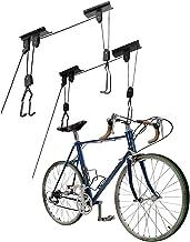 Fietslift 2-delige set, hangende ladderliften - garage-plafondhouder 55 lb capaciteit heavy duty haak en riemschijven - pr...