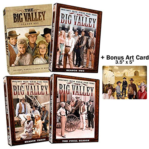 The Big Valley: Complete Classic Western TV Series Seasons 1-4 DVD Collection + Bonus Art Card