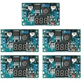 Greluma 5 Pezzi LM2596S Convertitore Buck da DC a DC Regolatore di Tensione Step-down Modulo di Alimentazione da 36 V 24 V da 12 V a 5 V 2 A Stabilizzatore di Tensione con Display a LED