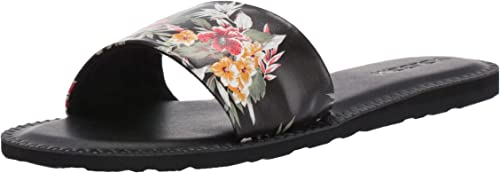 Volcom Simple Slide Pantoletten Clogs Damen SchwarzPantoffel