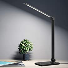 LED Desk Lamp, Touch Control Desk Lamp with 3 Levels Brightness, Dimmable Office Lamp with Adjustable Arm, Foldable Table ...