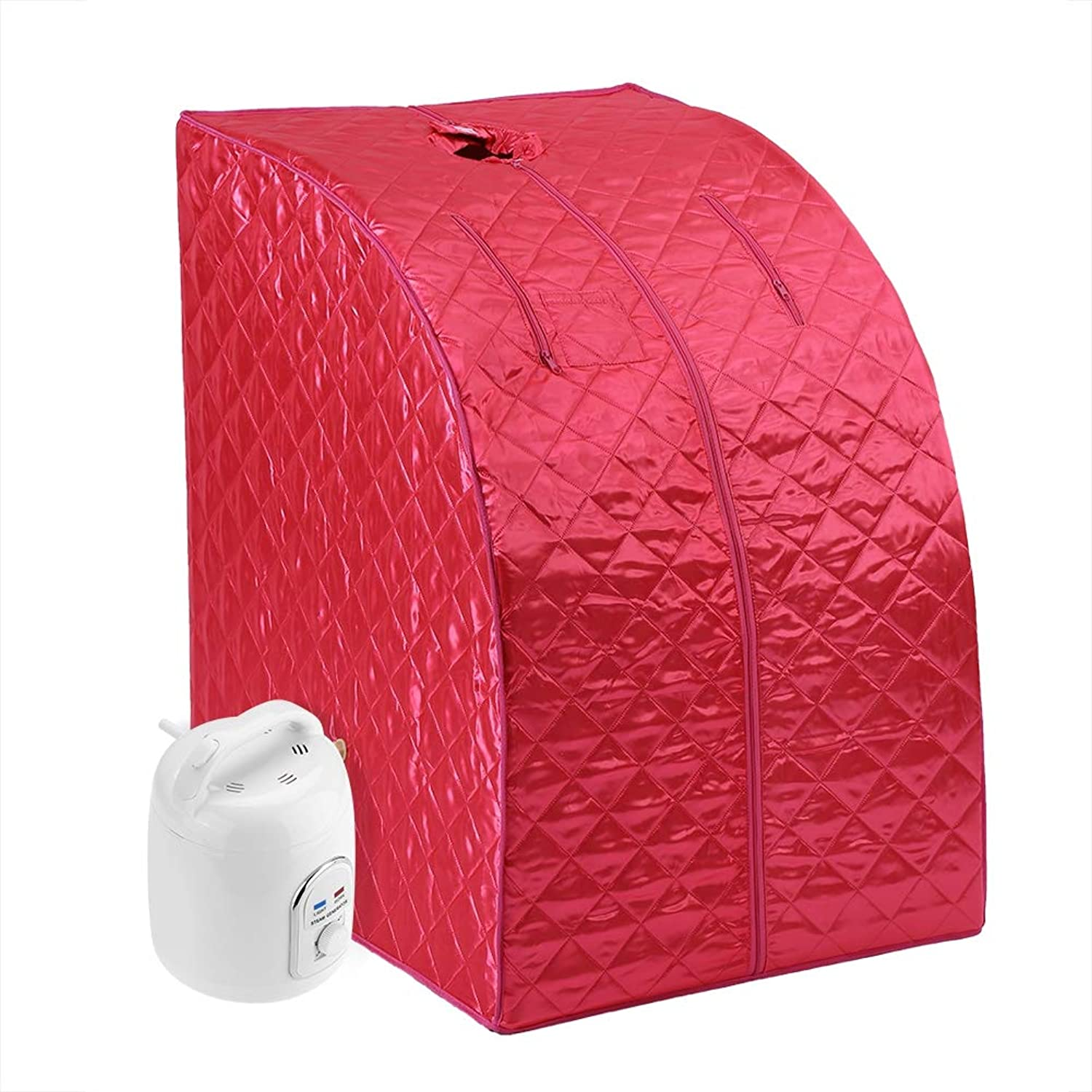 Spa Sauna, Asixx Portable 1.5L Steam Sauna or Folding Home Steam Sauna, Rejuvenator Portable Sauna Suitable for Lose Weight, Remove Toxin, Reduce Stress and Fatigue