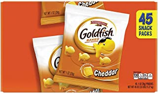 Pepperidge Farm 1051900 Goldfish Crackers, Cheddar, 1 oz Bag, 45/Carton