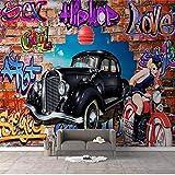BXZGDJY Papier Peint Autocollant (L) 250X (H) 175Cm Fond D'Écran 3D Photo Murale Salon Canapé Tv Fond D'Écran Mur De Graffiti Voiture De Luxe Photo Papier Peint Décoration De La Maison Enfants Ga