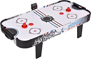 GOPLUS Air Powered Hockey Table, LED Electronic Scoring Indoor Sports Game for Kids