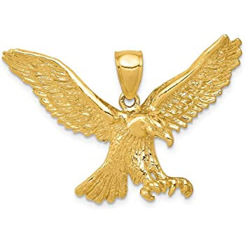 Silver Yellow Plated Eagle Charm 39mm