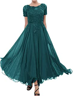 Mother of The Bride Dresses Chiffon Evening Formal Dress Lace Applique Mothers Bride Dresses