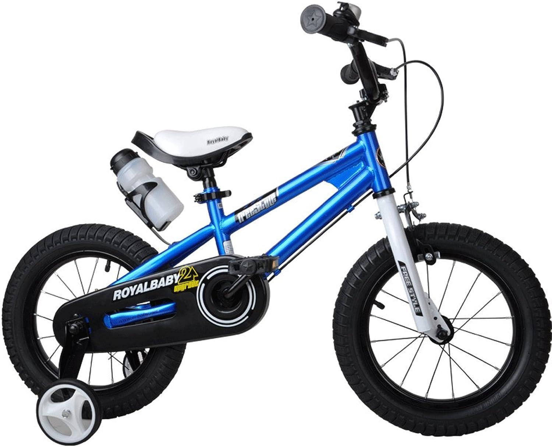 Kinderfahrrad für Mdchen und Jungen, Laufrder für 12 14 16 Zoll Fahrrad, in Mehreren Farben (Farbe   Blau, gre   12 Zoll)