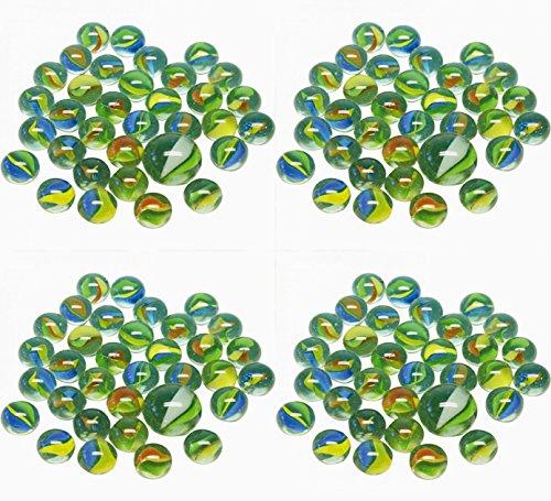 timtina 204 Stück Glasmurmeln Märbeln Schusser über 1 Kg