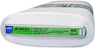 Pellon Quilter's Fusible Non-Woven w/Printed 1in Precision Grid for Piecing Fabric by The Yard, White