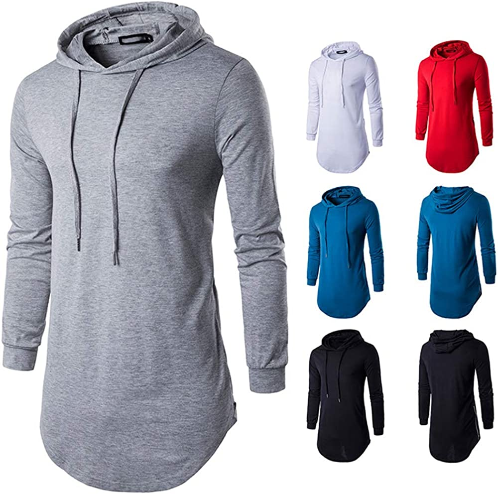 QPNGRP Men's Casual Short New Orleans Mall Sleeve Hoodie Max 68% OFF Long