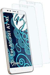Bruni Skärmskydd är kompatibel med Alcatel A7 XL Film, kristallklart Skyddsfilm (2X)