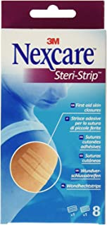 3M™ Nexcare™ Steri-Strip First Aid Skin Closures, x 8 in each pack, 2 Packs.