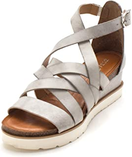 c7be4532ccc Diba True Womens Good for Me Leather Open Toe Casual Platform Sandals