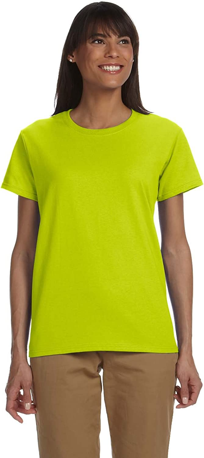 Gildan Womens 6.1 oz. Ultra Cotton TShirt (G200L) SAFETY GRE 2XL12PK