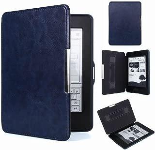 Hzjundasi ハンドケアスマートスリープレザーケースカバー For Amazon Kindle Paperwhite 1/2/3 (藍色)