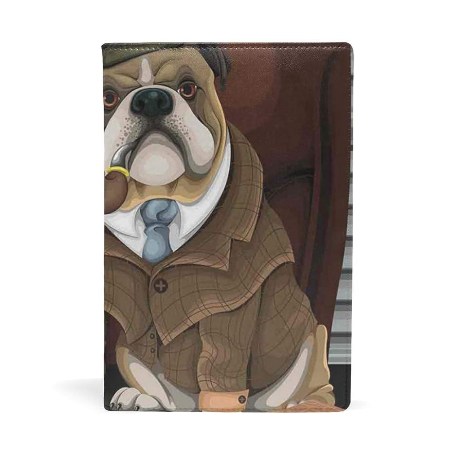 規範キャンセル下にイギリスのブルドッグ ブックカバー 文庫 a5 皮革 おしゃれ 文庫本カバー 資料 収納入れ オフィス用品 読書 雑貨 プレゼント耐久性に優れ