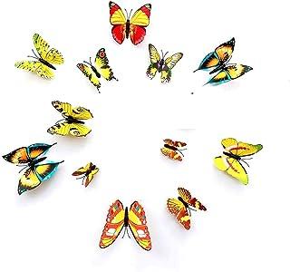 Rangoli 3D Butterfly Yellow 12 pcs