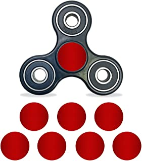 MightySkins Vinyl Decal Skin Compatible with Fidget Spinner Center Cap – Red Carbon Fiber | Protective Sticker Wrap for Your Fidget Toy Bearing Cap | Easy to Apply Cover