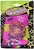 Rainbow Bands - Confezione Elastici, 1 Busta, 280 Pezzi, Colori Assortiti