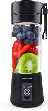 Portable Blender, Personal Size Blender Shakes and Smoothies Mini Jucier Cup USB Rechargeable Battery Strong Power Ice Blende