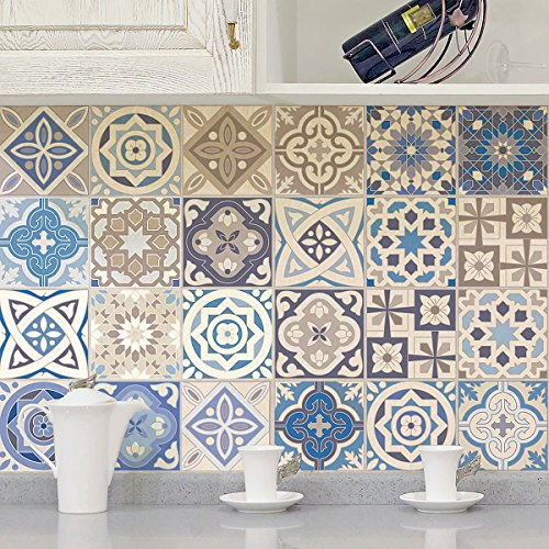 Set Multicolore 10/x 10/cm Ambiance Live COL-Ros Tiles A912//_ 10/x 10/cm di piastrelle 30/pezzi