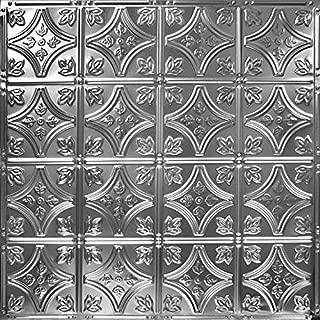 American Tin Ceilings Pattern #3 Tin Tile Backsplash Kit (Brushed Satin Nickel)