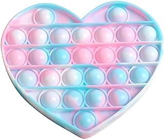 Blesser Pop Fidget Toy Pas Cher, Push Bubble Pop Jeux Jouet Sensoriel Pop Coeur Anti Stress Enfant TDAH Adulte Objet Satis...